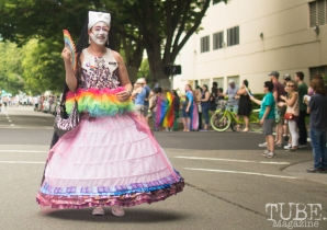 Victorian Marchers. Sacramento Pride Festival, Sacramento, CA. June 2017. Photo: Dan Tyree