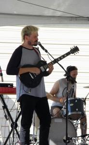 Vocalist/Guitarist Geoffrey CK of Sunmonks, R Street Block Party and Makers Mart, WAL Public Market, Sacramento, CA. June 24, 2017. Photo Anouk Nexus