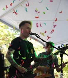 Bassist Jordan Hoover of A Foreign Affair, Concerts in the Park, Cesar Chavez Park, Sacramento, CA. June 2, 2017. Photo Anouk Nexus
