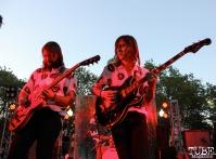 Guitarist Sam Plecker and Bassist Trevor James Sutton of Vista Kicks, Concerts in the Park, Cesar Chavez Park, Sacramento, CA. June 30, 2017. Photo Anouk Nexus