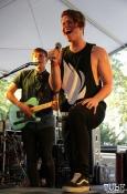 Guitarist Jared Cambridge and Vocalist Alex Strobaugh of A Foreign Affair, Concerts in the Park, Cesar Chavez Park, Sacramento, CA. June 2, 2017. Photo Anouk Nexus
