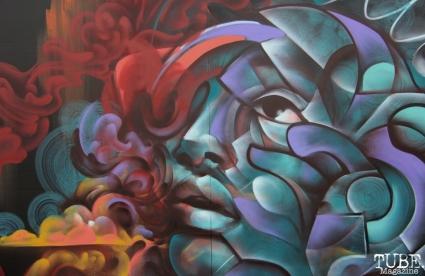 Collaborative piece by artists Shaun Burner and Franceska Julianna, R Street Block Party and Makers Mart, WAL Public Market, Sacramento, CA. June 24, 2017. Photo Anouk Nexus