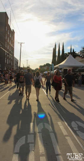 Attendees at the R Street Block Party, R Street Block Party and Makers Mart, WAL Public Market, Sacramento, CA. June 24, 2017. Photo Anouk Nexus