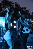 Audience member and Bassist Trevor James Sutton of Vista Kicks, Concerts in the Park, Cesar Chavez Park, Sacramento, CA. June 30, 2017. Photo Anouk Nexus
