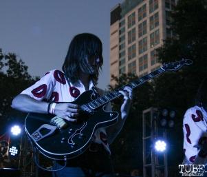 Guitarist Sam Plecker of Vista Kicks, Concerts in the Park, Cesar Chavez Park, Sacramento, CA. June 30, 2017. Photo Anouk Nexus