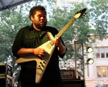 Guitarist Will Swan of Secret Band, Concerts in the Park, Cesar Chavez Park, Sacramento, CA. June 2, 2017. Photo Anouk Nexus