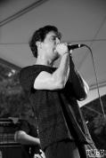Vocalist Jon Mess of Secret Band, Concerts in the Park, Cesar Chavez Park, Sacramento, CA. June 2, 2017. Photo Anouk Nexus