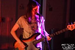 Rachel Orimo, bassist for Monster Treasure in Sacramento CA for Ladyfest. July 21, 2017. Photo Cam Evans