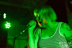 Sophia from Crude Studs performing in Sacramento CA for Ladyfest. July 22, 2017. Photo Cam Evans