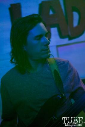 Chris Kamker of Write Or Die performing in Sacramento CA for Ladyfest. July 22, 2017. Photo Cam Evans
