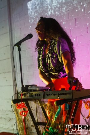 Spellling performing at The Red Museum for Red Ex Volume 1 in Sacramento, CA (8-26-2017). Photo Cam Evans