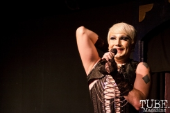 Burlesque performer Apple Adams at Ooley Theatre in Sacramento, CA, 7/27/2017. Photo Cam Evans.