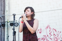Jessica Brown of Dusty Brown performing with Young Aundee at The Red Museum for Red Ex Volume 1 in Sacramento, CA (8-26-2017). Photo Cam Evans