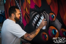 Artist John Horton, City of Trees, Papa Murphys Park, Sacramento CA, September 24, 2017 Photo Melissa Uroff