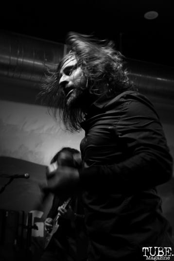 Vocalist Carlo Marquez of Stolas, Goldfield Trading Post, Sacramento, CA. September 5, 2017. Photo Anouk Nexus