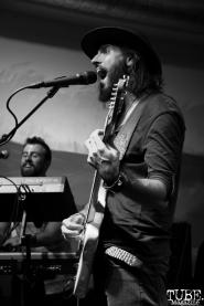 Vocalist Joey Secchiaroli of The Reign Of Kindo, Goldfield Trading Post, Sacramento, CA. September 5, 2017. Photo Anouk Nexus