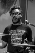 Drummer Steven Padin of The Reign Of Kindo, Goldfield Trading Post, Sacramento, CA. September 5, 2017. Photo Anouk Nexus