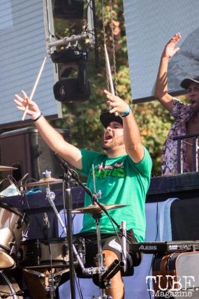 Ben Lerch of Hobo Johnson performing at HOFDAY in Sacramento, CA (9/16/2017). Photo Cam Evans.