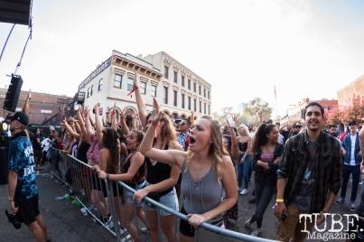 The crowd for DJ Amen & Kool John at HOFDAY in Sacramento, CA (9/16/2017). Photo Cam Evans.
