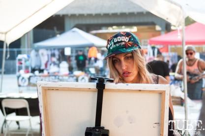 TUBE's own Joey Miller painting at HOFDAY in Sacramento, CA (9/16/2017). Photo Cam Evans.