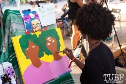 Duckee (@dduckee) painting at HOFDAY in Sacramento, CA (9/16/2017). Photo Cam Evans.