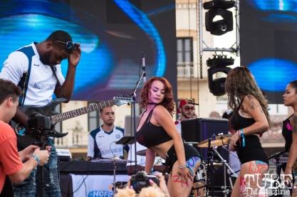Deja Vu girls performing with CGM at HOFDAY in Sacramento, CA (9/16/2017). Photo Cam Evans.