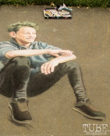 Incredible Realism, Chalk It Up, Fremont Park, Sacramento, CA, September 4, 2017 Photo Dan Tyree