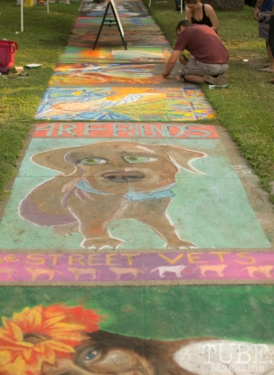 Sidewalk Canvasses, Chalk It Up, Fremont Park, Sacramento, CA, September 4, 2017 Photo Dan Tyree