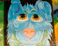 Blue Pup, Chalk It Up, Fremont Park, Sacramento, CA, September 4, 2017 Photo Dan Tyree