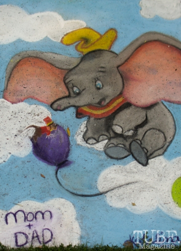 Dumbo, Chalk It Up, Fremont Park, Sacramento, CA, September 4, 2017 Photo Dan Tyree