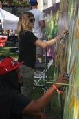Artist Jenn Ponci at HOF Day 2017. Photo Joey Miller