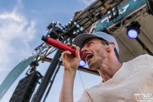 Vocalist David Boyd of New Politics, City of Trees, Papa Murphy's Park, Sacramento, CA. September 24th, 2017. Photo Mickey Morrow