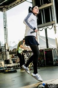 Bishop Briggs performing, City of Trees, Papa Murphy's Park, Sacramento, CA. September 24th, 2017. Photo Mickey Morrow