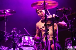 Drummer Travis Barker of Blink-182, City of Trees, Papa Murphy's Park, Sacramento, CA. September 24th, 2017. Photo Mickey Morrow