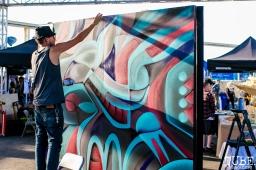 Shaun Burner Painting, City of Trees, Papa Murphy's Park, Sacramento, CA. September 24th, 2017. Photo Mickey Morrow