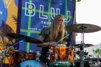 Drummer Christian Midthun of Trophi, THIS is Midtown, 20th street, Sacramento, CA. September 9, 2017. Photo Mickey Morrow