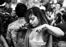 Attendee dancing, THIS is Midtown, 20th street, Sacramento, CA. September 9, 2017. Photo Mickey Morrow