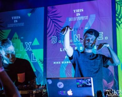 -BLU J performing, THIS is Midtown, 20th street, Sacramento, CA. September 9, 2017. Photo Mickey Morrow