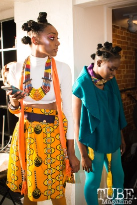 Models of The Willow Tree Roots Fashion & Art Show at The Brick House Gallery & Art Complex, in Sacramento, Ca. September 2017. Photo by Heather Uroff.