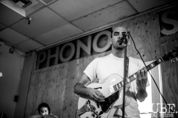 Boy Romeo performing at Phono Select Records, in Sacramento CA. September 2017. Photo Heather Uroff.