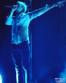 Lead Vocalist and Guitarist Britt Daniel of Spoons, Greek Theatre, Berkeley, CA. September 30th, 2017. Photo Anouk Nexus