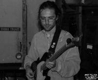 Guitarist Alex Naughton of Sundae Crush Performing at Someone's House, Sacramento, CA. October 10, 2017. Photo Anouk Nexus