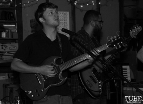 Guitarist/Vocalist Jesse Miller of Señor Fin Performing at Someone's House, Sacramento, CA. October 10, 2017. Photo Anouk Nexus