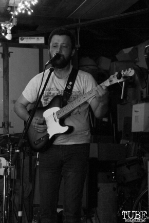 Guitarist/Vocalist Ronan Delisle of Señor Fin Performing at Someone's House, Sacramento, CA. October 10, 2017. Photo Anouk Nexus