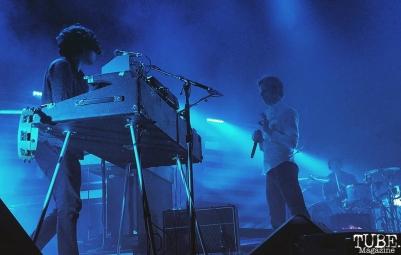 Keyboardist Alex Fischel of Spoon, Greek Theatre, Berkeley, CA. September 30th, 2017. Photo Anouk Nexus
