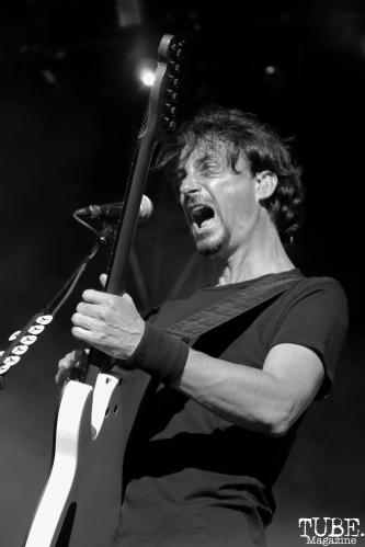 Vocalist/Guitarist Joseph Duplantier of Gojira, Aftershock, Discovery Park, Sacramento, CA. October 21, 2017. Photo Anouk Nexus