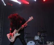 Bassist Chris Whetzel of Power Trip, Aftershock, Discovery Park, Sacramento, CA. October 22, 2017. Photo Anouk Nexus
