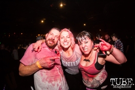 Fans after GWAR covered in fake blood at Ace Of Spades in Sacramento, CA (11-19-2017). Photo Cam Evans