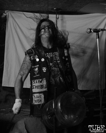 Drummer of Killer Couture performing at Casa de Chaos, in Sacramento Ca. December 15th 2017. Photo Anouk Nexus
