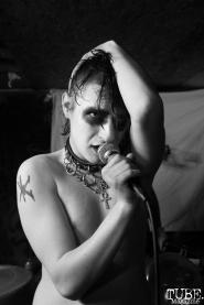 Seth Draven vocalist of Killer Couture performing at Casa de Chaos, in Sacramento Ca. December 15th 2017. Photo Anouk Nexus